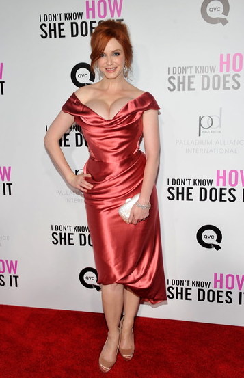 Christina Hendricks in Vivienne Westwood | 'I Don't Know How She Does It' Premiere