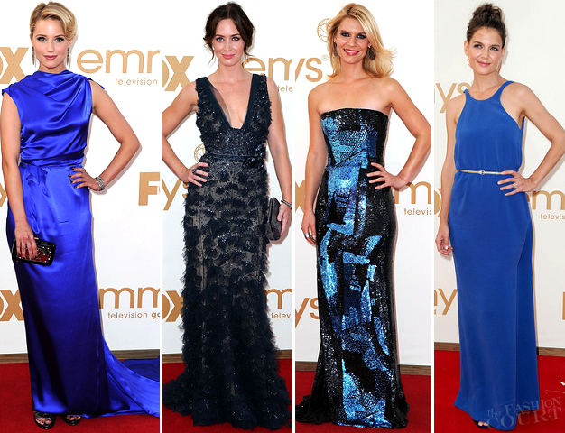 Emmy Awards Fashion: Feeling a Little Blue