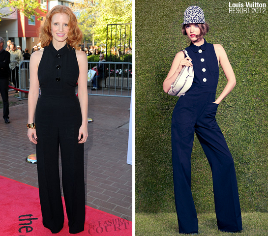 Jessica Chastain in Louis Vuitton | 2011 TIFF Premiere - 'Take Shelter'
