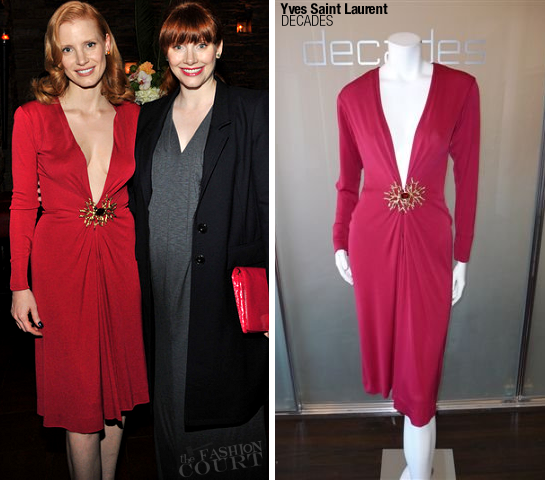 Jessica Chastain in Yves Saint Laurent | Sony Pictures Classics 20th Anniversary Party