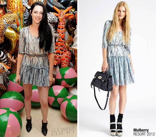 Kristen Stewart in Mulberry | London Fashion Week: Spring 2012 - Mulberry