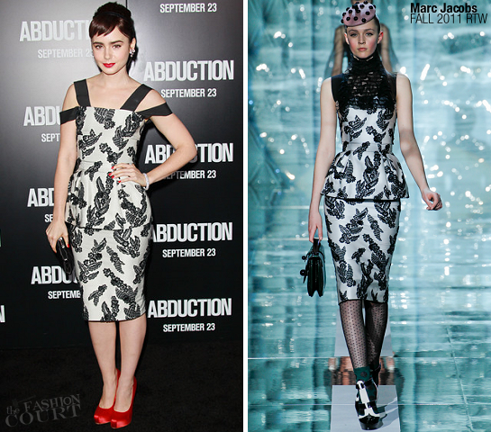 Lily Collins in Marc Jacobs | 'Abduction' LA Premiere