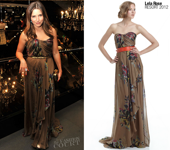Sophia Bush in Lela Rose | Fashion's Night Out NY