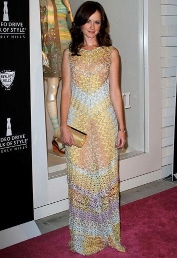 Alexis Bledel in Missoni | Beverly Hills Rodeo Drive Walk of Style