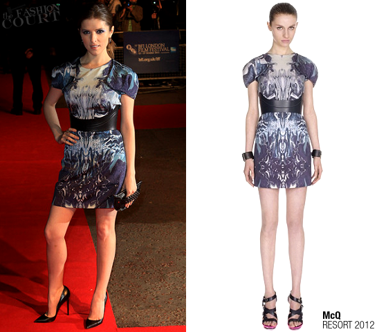 Anna Kendrick in McQ | '50/50' London Premiere