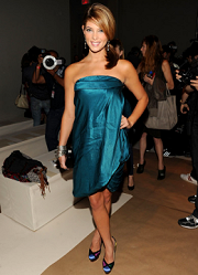 Ashley Greene front row at the Spring/Summer 2010 New York Fashion Week presentation of Donna Karan Collection in September 2010.
