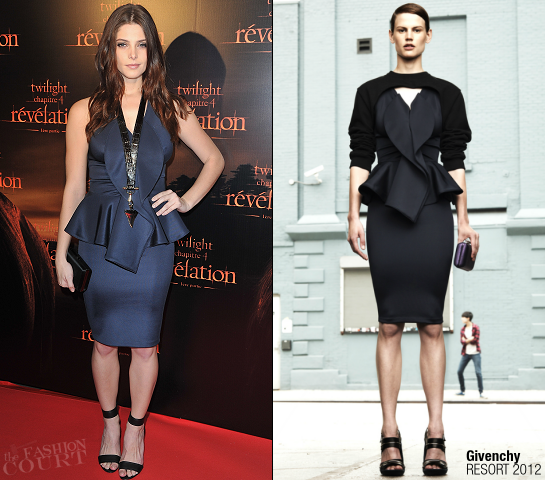 Ashley Greene in Givenchy | 'Breaking Dawn: Part 1' Paris Fan Event