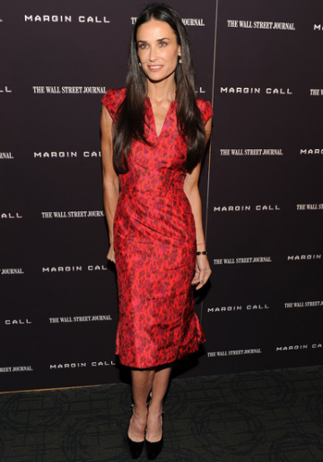 Demi Moore in Zac Posen | 'Margin Call' New York Premiere