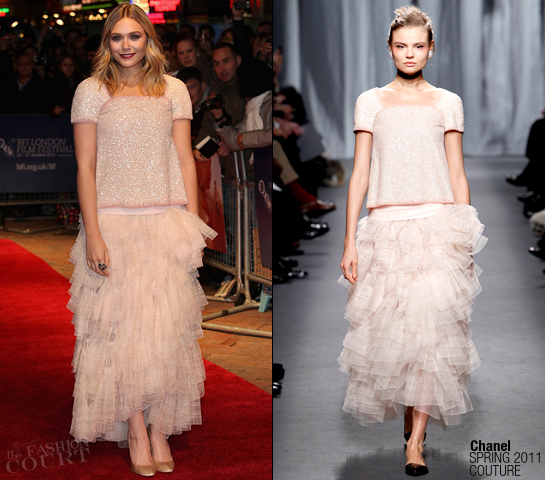 Elizabeth Olsen in Chanel | 'Martha Marcy May Marlene' London Film Festival Premiere