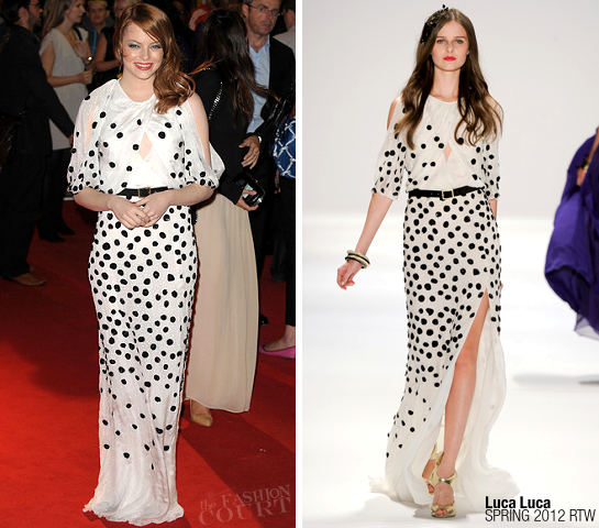 Emma Stone in Luca Luca | 'The Help' London Premiere