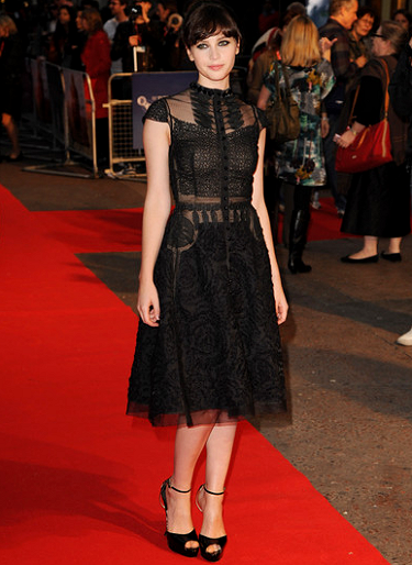Felicity Jones in Vintage | 'Like Crazy' London Film Festival Premiere