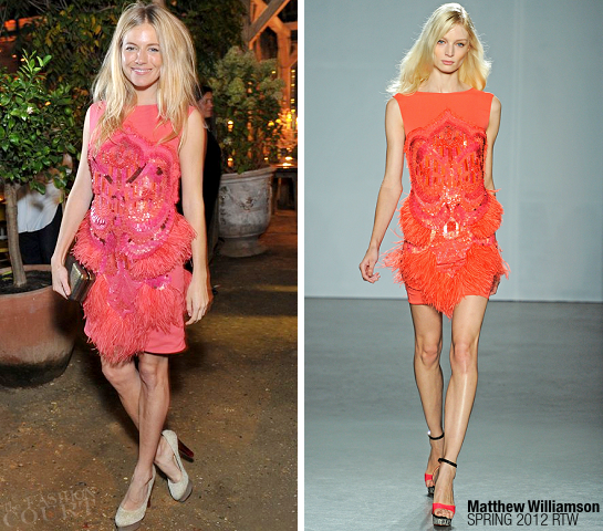 Sienna Miller in Matthew Williamson | Vault Couture All Saints Dinner